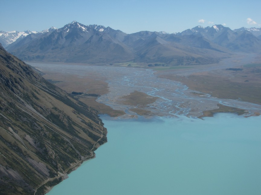 This is the Godley River which feeds into Lake Tekapo