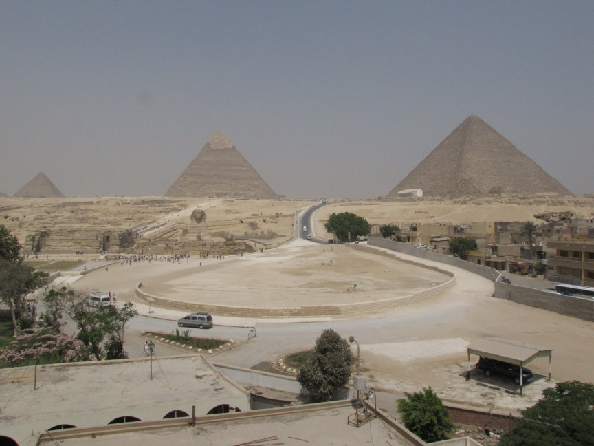 The last surviving member of the Seven Wonders of the World, the Great Pyramid of Giza.