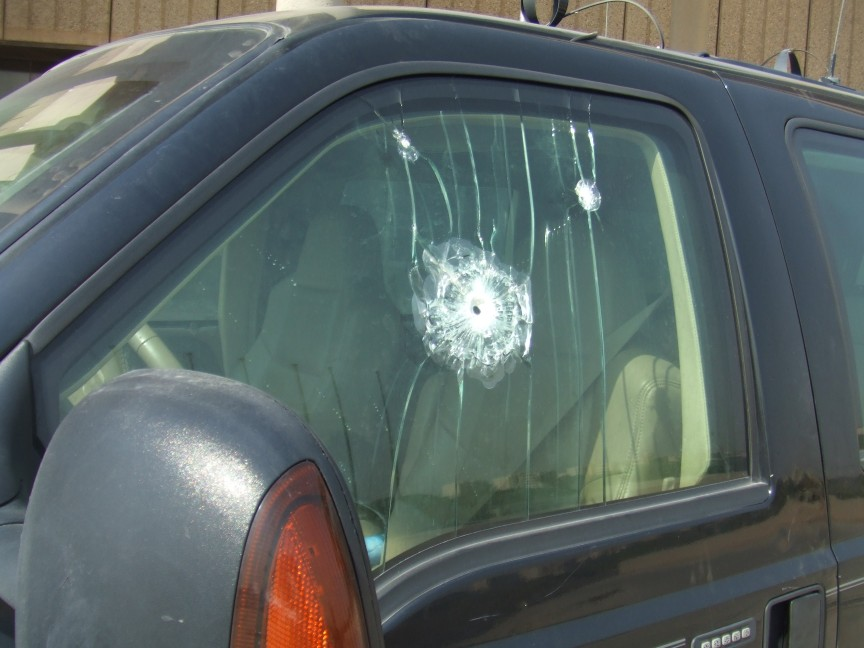 Bullet proof glass is a little extreme in most places - but don't hesitate to consider safety for the journey.